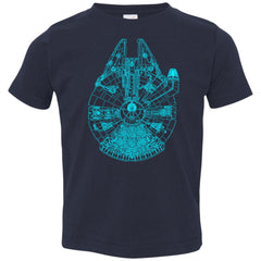 Star Wars Blue Millennium Falcon Toddler Jersey T-Shirt Toddler Jersey T-Shirt - PresentTees