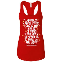 Harry Potter Happiness Can Be Found T Shirt, Ladies Racerback Tank Ladies Racerback Tank - PresentTees
