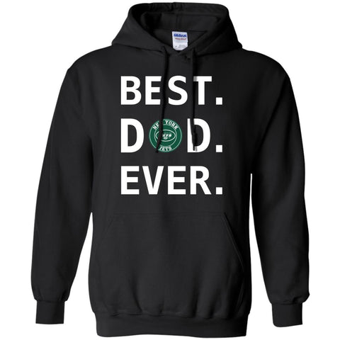 Best New York Jets Dad Ever Fathers Day Shirt Mens Pullover Hoodie Black / S Mens Pullover Hoodie - PresentTees