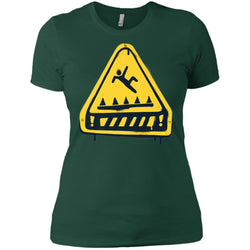 Fortnite Trap Warning T-shirt Women Cotton T-Shirt