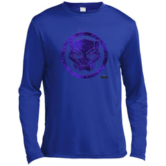 Marvel Black Panther Movie Purple Splatter Icon T-shirt Mens Long Sleeve Moisture Absorbing Shirt - PresentTees