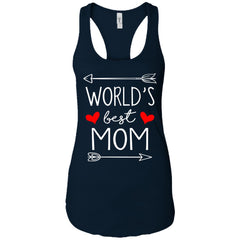 World's Best Mom Mothers Day Gift Ladies Racerback Tank Ladies Racerback Tank - PresentTees