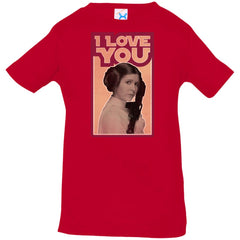 Star Wars Leia I Love You Iconic Ep.5 Quote Graphic Infant Jersey T-Shirt Infant Jersey T-Shirt - PresentTees