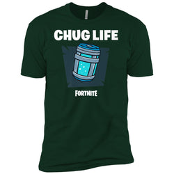 Fortnite Chug Life T-shirt Men Short Sleeve T-Shirt