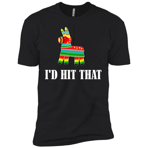 I'd Hit That Pinata T-shirt - Cinco De Mayo Pinata Shirts Black / X-Small Mens Short Sleeve T-Shirt - PresentTees