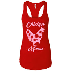 Chicken Mama Shirt For Mom Sister Antie Grandma Ladies Racerback Tank Ladies Racerback Tank - PresentTees