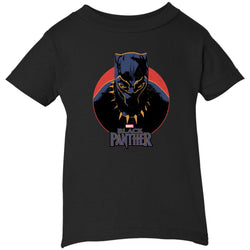 Marvel Black Panther Movie Retro Circle Portrait Youth T Shirt