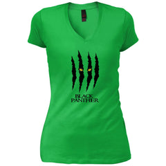 Mavel Black Panther Glares T Shirt Womens V-Neck T-Shirt - PresentTees