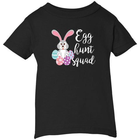 Kid's Egg Hunt Squad Easter Day Youth T Shirt Black / 6 Months Infant Short Sleeve T-Shirt - PresentTees