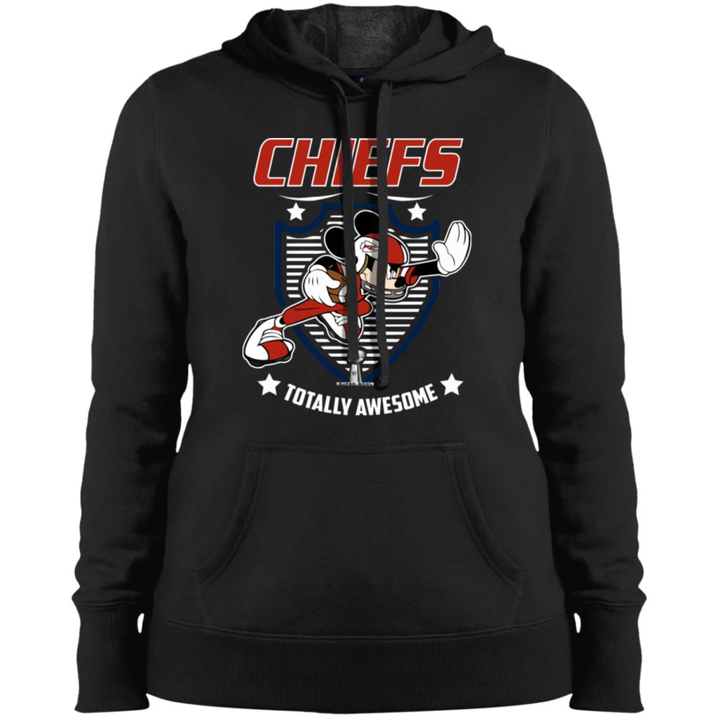 4893b524 Nfl – Kansas City Chiefs Totally Awesome Mickey Mouse Super Bowl 2019  Football Women Hooded Sweatshirt
