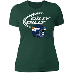 Dilly Dilly Denver Broncos Helmet Football Gift Women's Premium T-Shirt T-Shirts - PresentTees