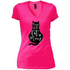 Puuur Fect Cat Mom Shirt Gift For Mothers Day And Birthday Womens V-Neck T-Shirt Womens V-Neck T-Shirt - PresentTees
