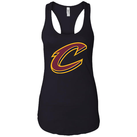 2b9e72a53083 Cleveland Cavaliers Nba Basketball Ladies Racerback Tank Black   X-Small  Ladies Racerback Tank -