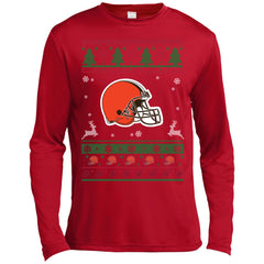 Cleveland Browns Christmas Sweater.Cleveland Browns Logo Nfl Football Ugly Christmas Sweater
