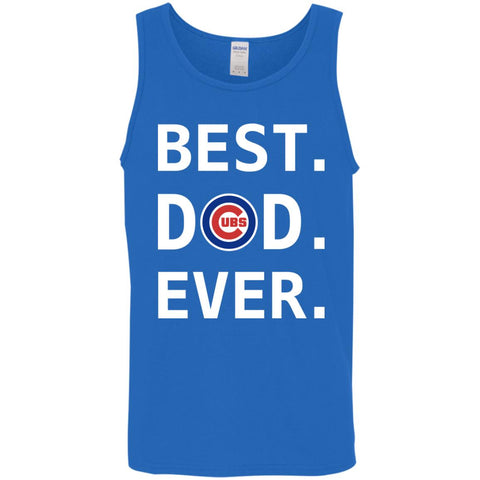 Best Chicago Cubs Dad Ever Baseball Fathers Day Shirt Mens Tank Top Royal    S Mens 6844c3b1c10e