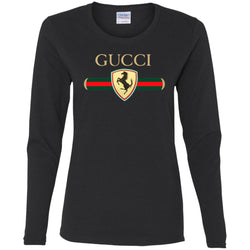 Gucci Ferrari T-shirt Women Long Sleeve Shirt