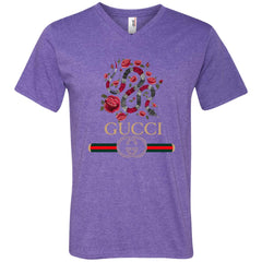 Gucci Logo T-shirt Snake 2018 Men V-Neck T-Shirt Men V-Neck T-Shirt - PresentTees
