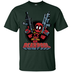 Marvel Deadpool Big Guns Mens Cotton T-Shirt Mens Cotton T-Shirt - PresentTees