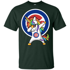 Unicorn Dabbing Chicago Cubs Baseball Mlb Shirt Youth Cotton T-Shirt - PresentTees
