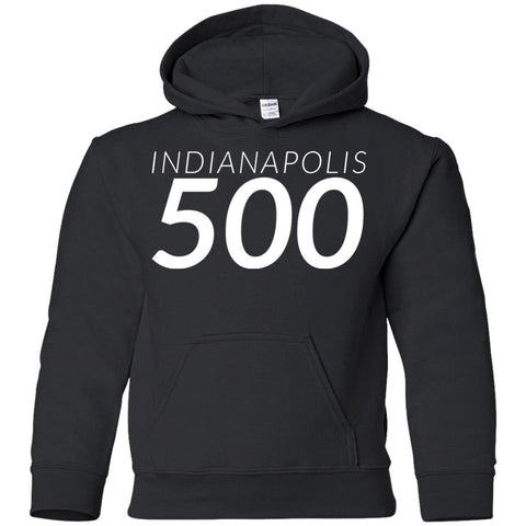 Indianapolis Shirt - Indy 500 Youth Pullover Hoodie Black / YS Youth Pullover Hoodie - PresentTees
