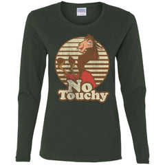 Disney Emperors New Groove Kuzco Llama No Touchy Shirt Forest Ladies Long Sleeve Shirt Ladies Long Sleeve Shirt - PresentTees