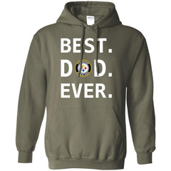 Best Pittsburgh Steelers Dad Ever Fathers Day Shirt Mens Pullover Hoodie Mens Pullover Hoodie - PresentTees