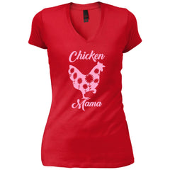 Chicken Mama Shirt For Mom Sister Antie Grandma Womens V-Neck T-Shirt Womens V-Neck T-Shirt - PresentTees