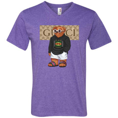 Best Gucci Bear Style Fashion T-shirt Men V-Neck T-Shirt Men V-Neck T-Shirt - PresentTees
