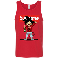 Supreme Songoku T-shirt Men Cotton Tank Men Cotton Tank - PresentTees