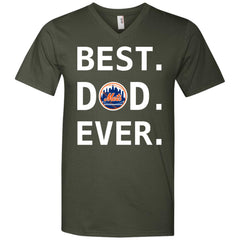 Best New York Mets Dad Ever Baseball Fathers Day Shirt Mens V-Neck T-Shirt Mens V-Neck T-Shirt - PresentTees