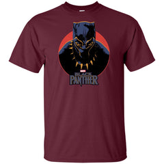 Marvel Black Panther Movie Retro Circle Portrait Youth T Shirt Youth Cotton T-Shirt - PresentTees
