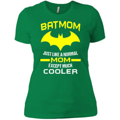 Batmom Just Like A Normal Mom Except Much Cooler - Mothers Day And Birthday Womens Cotton T-Shirt Womens Cotton T-Shirt - PresentTees