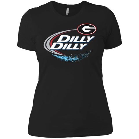 Dilly Dilly Georgia Bulldogs Nfl Ladies Boyfriend T-Shirt Black / X-Small Ladies Boyfriend T-Shirt - PresentTees