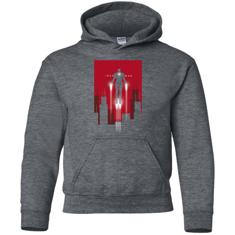 07d8e7c912b Kids Marvel Iron Man Takes Flight Youth T Shirt Dark Heather   YS Youth Pullover  Hoodie