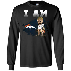 Denver Broncos I Am Groot Men Long Sleeve Shirt Men Long Sleeve Shirt - PresentTees