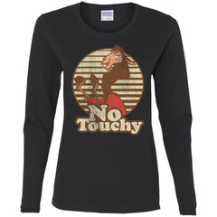 Disney Emperors New Groove Kuzco Llama No Touchy Shirt Black Ladies Long Sleeve Shirt Ladies Long Sleeve Shirt - PresentTees