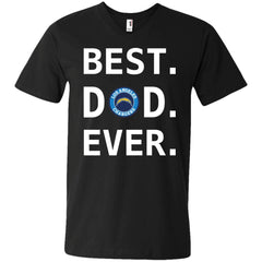Best Los Angeles Chargers Dad Ever Fathers Day Shirt Mens V-Neck T-Shirt Mens V-Neck T-Shirt - PresentTees