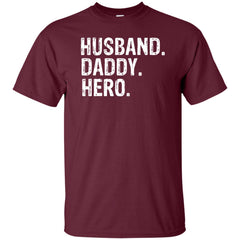 Father's Day Gift Husband Daddy Hero Shirt Mens Cotton T-Shirt Mens Cotton T-Shirt - PresentTees