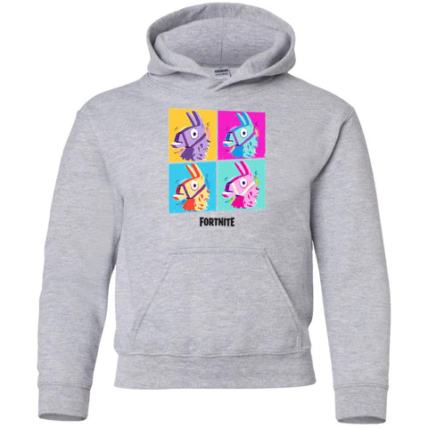 Fortnite Four Llamas Funny Youth Pullover Hoodie