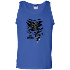 Marvel Black Panther Breaks Through T Shirt Mens Cotton Tank Top - PresentTees