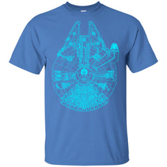 Star Wars Blue Millennium Falcon Youth Cotton T-Shirt Youth Cotton T-Shirt - PresentTees