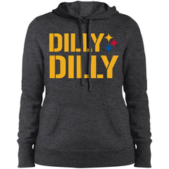 Dilly Dilly Logo Steelers Shirt Ladies Pullover Hooded Sweatshirt Ladies Pullover Hooded Sweatshirt - PresentTees