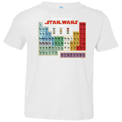Star Wars Periodic Table Of Elements Graphic Toddler Jersey T-Shirt