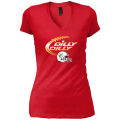 Miami Dolphins Mia Dilly Dilly Bud Light T Shirt Womens V-Neck T-Shirt - PresentTees