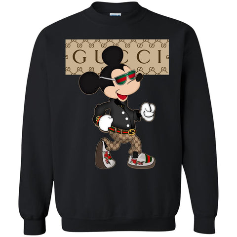 Gucci Shirt Mickey Mouse 2018 Crewneck Pullover Sweatshirt Black / S Crewneck Pullover Sweatshirt - PresentTees