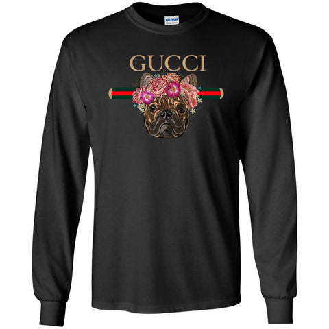 Gucci New Style Bull Dogs T-shirt Men Long Sleeve Shirt Black / S Men Long Sleeve Shirt - PresentTees