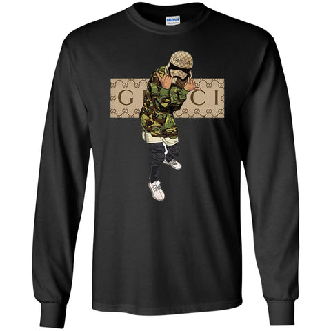 Gucci Gang Hiphop T-shirt Men Long Sleeve Shirt Black / S Men Long Sleeve Shirt - PresentTees