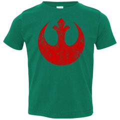 Star Wars Big Red Rebel Alliance Distressed Logo Graphic Toddler Jersey T-Shirt Toddler Jersey T-Shirt - PresentTees