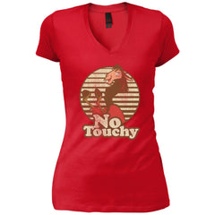 Disney Emperors New Groove Kuzco Llama No Touchy Shirt New Red Womens V-Neck T-Shirt Womens V-Neck T-Shirt - PresentTees