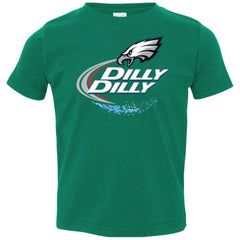 Philadelphia Eagles Dilly Dilly Football Gifts Toddler Jersey T-Shirt Toddler Jersey T-Shirt - PresentTees